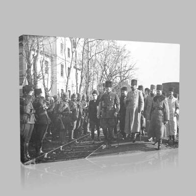 Siyah Beyaz Atatürk Resimleri  302 Kanvas Tablo