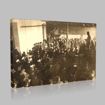 Siyah Beyaz Atatürk Resimleri  307 Kanvas Tablo