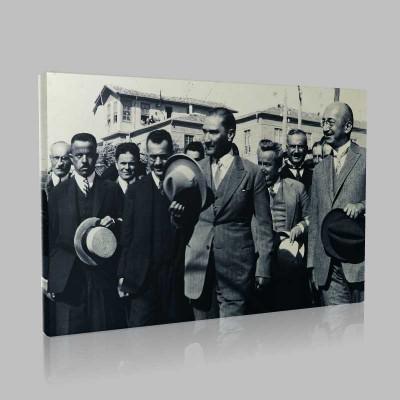 Siyah Beyaz Atatürk Resimleri  308 Kanvas Tablo