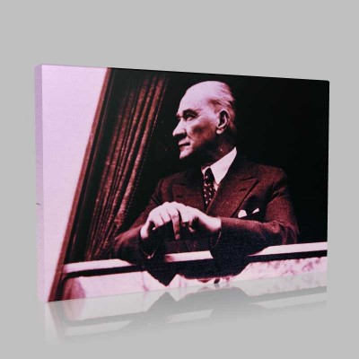 Siyah Beyaz Atatürk Resimleri  31 Kanvas Tablo