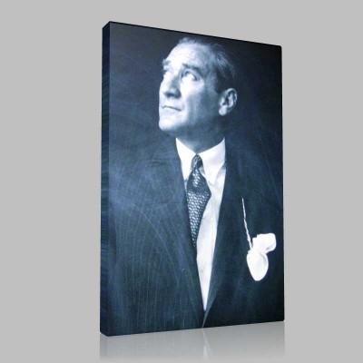 Siyah Beyaz Atatürk Resimleri  310 Kanvas Tablo