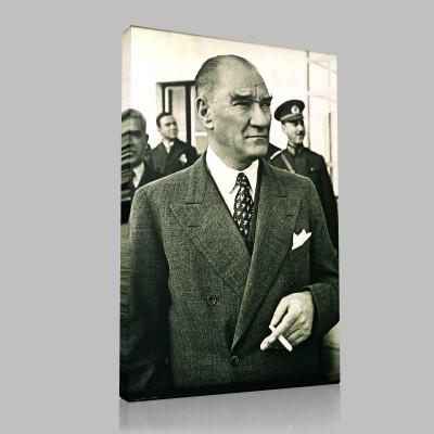 Siyah Beyaz Atatürk Resimleri  311 Kanvas Tablo
