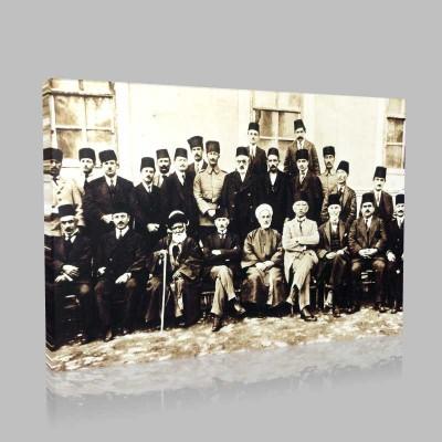 Siyah Beyaz Atatürk Resimleri  312 Kanvas Tablo