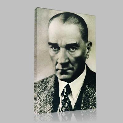 Siyah Beyaz Atatürk Resimleri  313 Kanvas Tablo