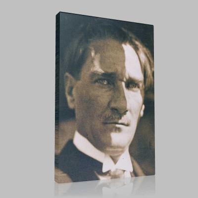 Siyah Beyaz Atatürk Resimleri  315 Kanvas Tablo