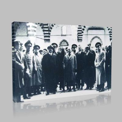 Siyah Beyaz Atatürk Resimleri  318 Kanvas Tablo