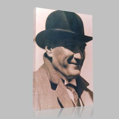 Siyah Beyaz Atatürk Resimleri  321 Kanvas Tablo