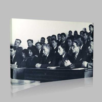 Siyah Beyaz Atatürk Resimleri  322 Kanvas Tablo