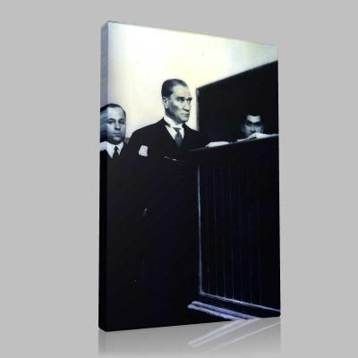 Siyah Beyaz Atatürk Resimleri  327 Kanvas Tablo