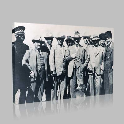 Siyah Beyaz Atatürk Resimleri  328 Kanvas Tablo