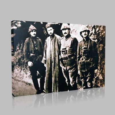 Siyah Beyaz Atatürk Resimleri  33 Kanvas Tablo