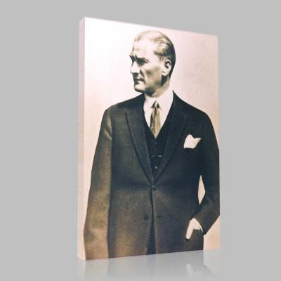 Siyah Beyaz Atatürk Resimleri  331 Kanvas Tablo
