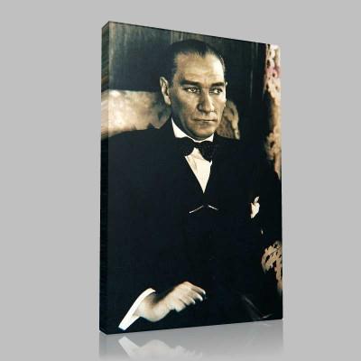 Siyah Beyaz Atatürk Resimleri  332 Kanvas Tablo