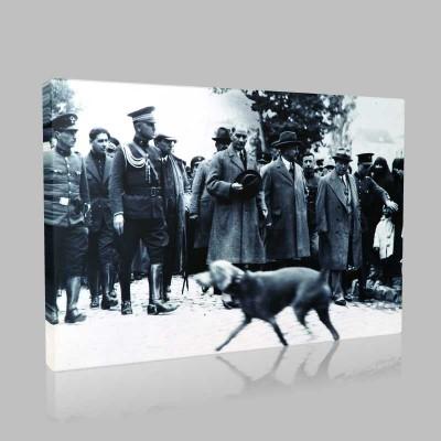 Siyah Beyaz Atatürk Resimleri  333 Kanvas Tablo