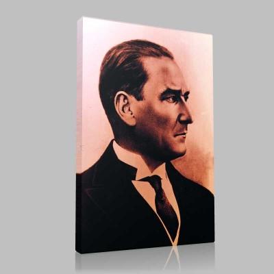 Siyah Beyaz Atatürk Resimleri  334 Kanvas Tablo