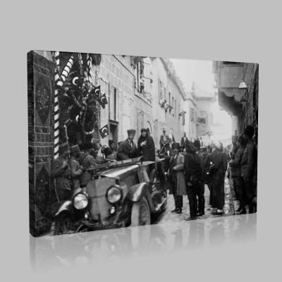 Siyah Beyaz Atatürk Resimleri  337 Kanvas Tablo