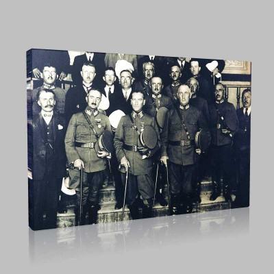 Siyah Beyaz Atatürk Resimleri  34 Kanvas Tablo