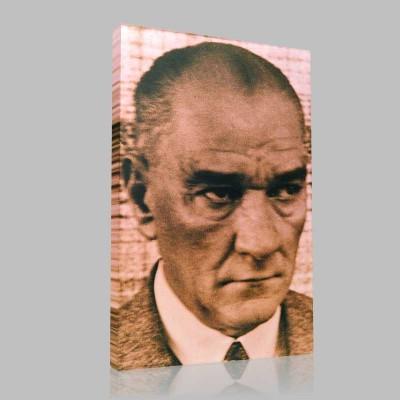 Siyah Beyaz Atatürk Resimleri  341 Kanvas Tablo