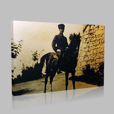 Siyah Beyaz Atatürk Resimleri  342 Kanvas Tablo