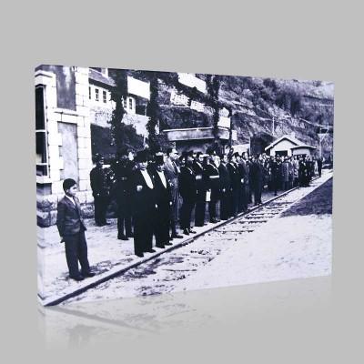 Siyah Beyaz Atatürk Resimleri  345 Kanvas Tablo