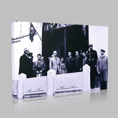 Siyah Beyaz Atatürk Resimleri  346 Kanvas Tablo