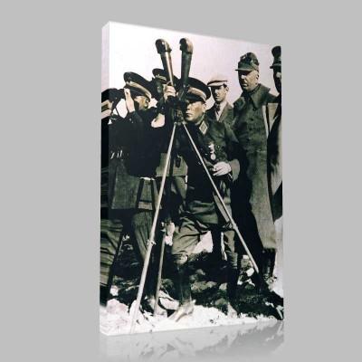 Siyah Beyaz Atatürk Resimleri  35 Kanvas Tablo