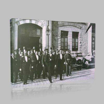 Siyah Beyaz Atatürk Resimleri  351 Kanvas Tablo