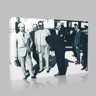 Siyah Beyaz Atatürk Resimleri  357 Kanvas Tablo