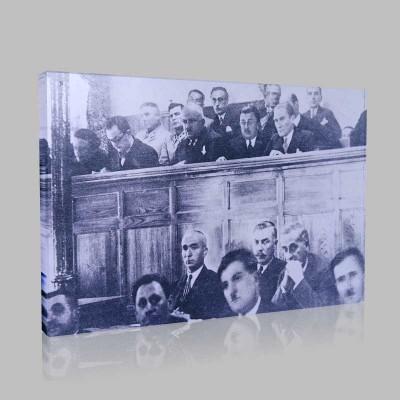 Siyah Beyaz Atatürk Resimleri  362 Kanvas Tablo