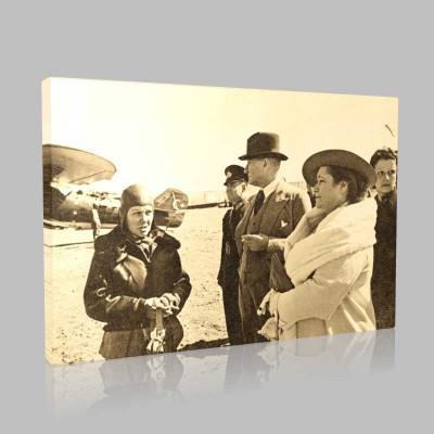 Siyah Beyaz Atatürk Resimleri  366 Kanvas Tablo