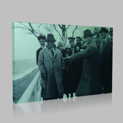 Siyah Beyaz Atatürk Resimleri  367 Kanvas Tablo
