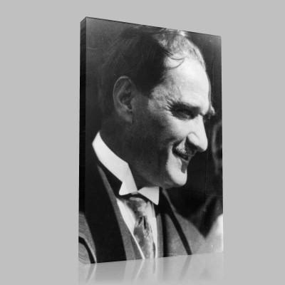 Siyah Beyaz Atatürk Resimleri  370 Kanvas Tablo