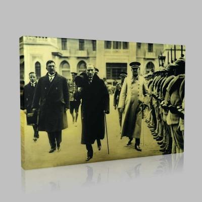 Siyah Beyaz Atatürk Resimleri  378 Kanvas Tablo