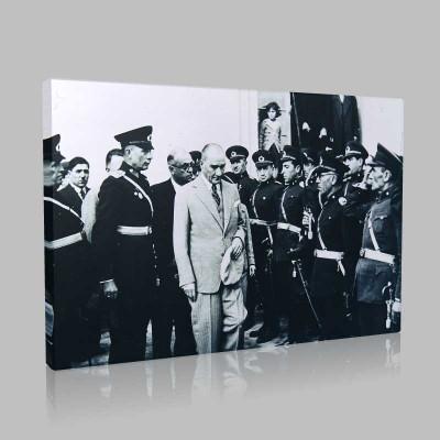 Siyah Beyaz Atatürk Resimleri  381 Kanvas Tablo