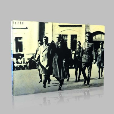 Siyah Beyaz Atatürk Resimleri  382 Kanvas Tablo
