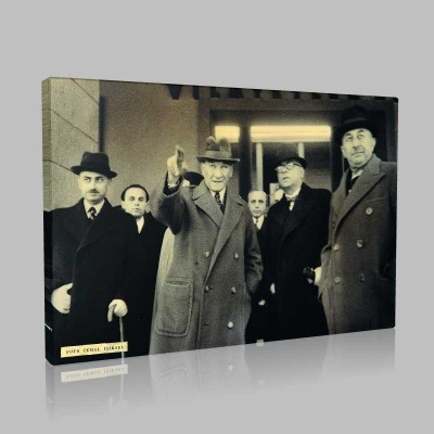 Siyah Beyaz Atatürk Resimleri  385 Kanvas Tablo