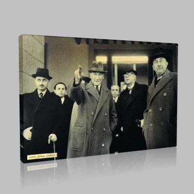 Siyah Beyaz Atatürk Resimleri  386 Kanvas Tablo