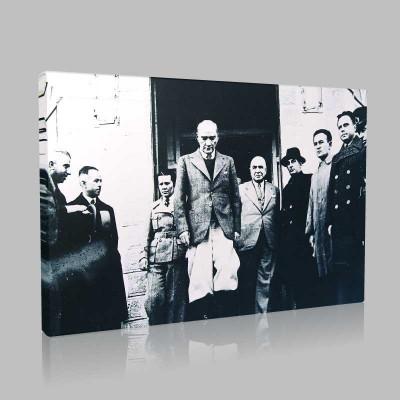 Siyah Beyaz Atatürk Resimleri  387 Kanvas Tablo