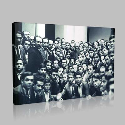 Siyah Beyaz Atatürk Resimleri  388 Kanvas Tablo