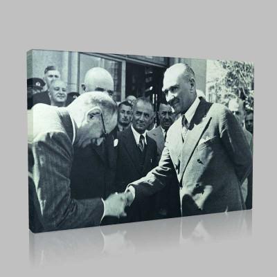 Siyah Beyaz Atatürk Resimleri  389 Kanvas Tablo