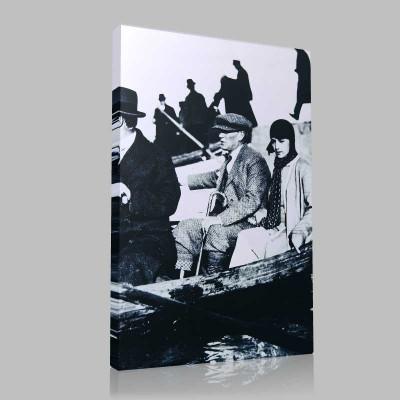 Siyah Beyaz Atatürk Resimleri  390 Kanvas Tablo