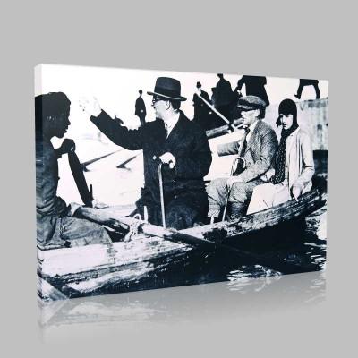 Siyah Beyaz Atatürk Resimleri  391 Kanvas Tablo