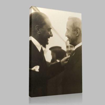 Siyah Beyaz Atatürk Resimleri  393 Kanvas Tablo