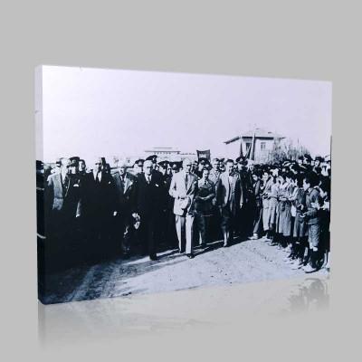 Siyah Beyaz Atatürk Resimleri  396 Kanvas Tablo