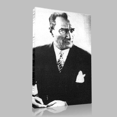 Siyah Beyaz Atatürk Resimleri  397 Kanvas Tablo