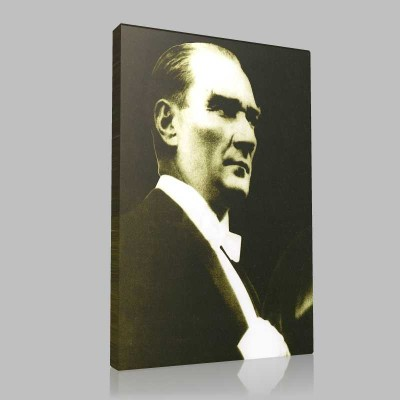 Siyah Beyaz Atatürk Resimleri  4 Kanvas Tablo