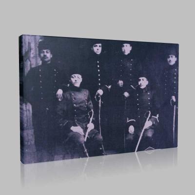 Siyah Beyaz Atatürk Resimleri  400 Kanvas Tablo