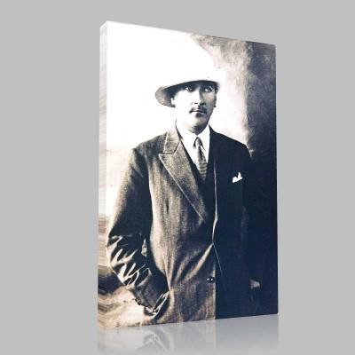 Siyah Beyaz Atatürk Resimleri  41 Kanvas Tablo