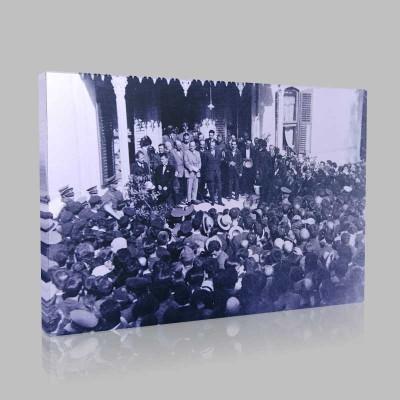 Siyah Beyaz Atatürk Resimleri  411 Kanvas Tablo