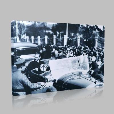 Siyah Beyaz Atatürk Resimleri  412 Kanvas Tablo